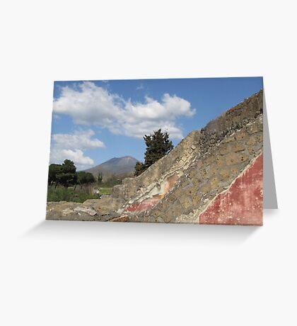 Vesuvius and Pompeii, March 2012 Greeting Card