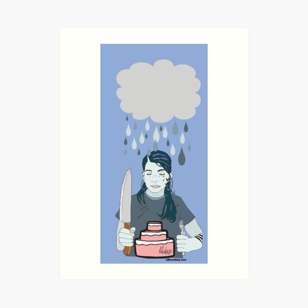 Someone Left Their Cake out in the Rain Art Print