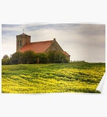 St Abbs Church in Rapeseed Poster