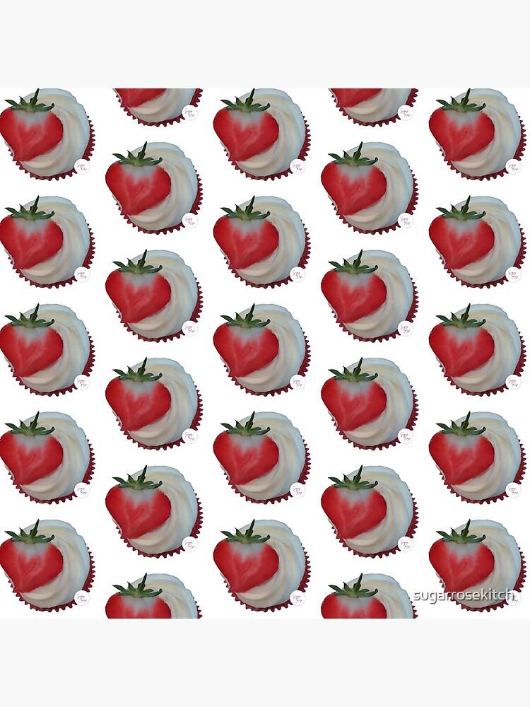 Strawberry and Vanilla Cupcake by sugarrosekitch