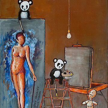 PAINTING PANDAS by shockschism