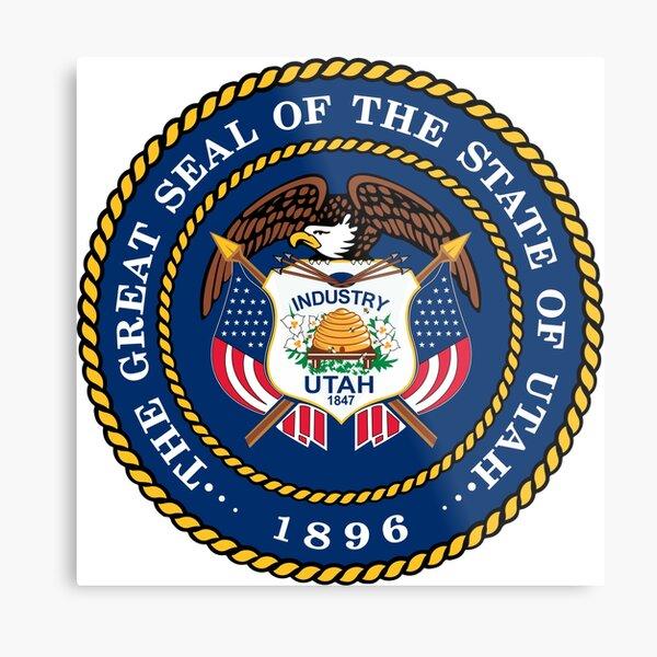 The Great Seal of the State of Utah 1896 Metal Print