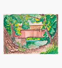 Covered Bridge  Photographic Print