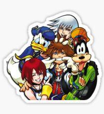 Kingdom Hearts - Sora, Riku, Kairi, Goofy & Donald Sticker