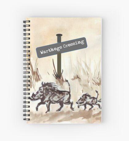 Warthogs Crossing Spiral Notebook