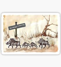 Warthogs Crossing Sticker