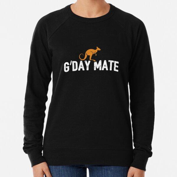 G'Day Mate w/ Kangaroo for Australians - Kangaroo Lightweight Sweatshirt