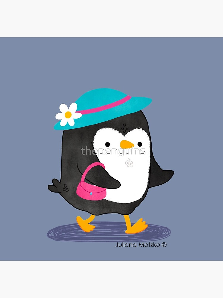 Daisy Penguin with purse and hat by thepenguins