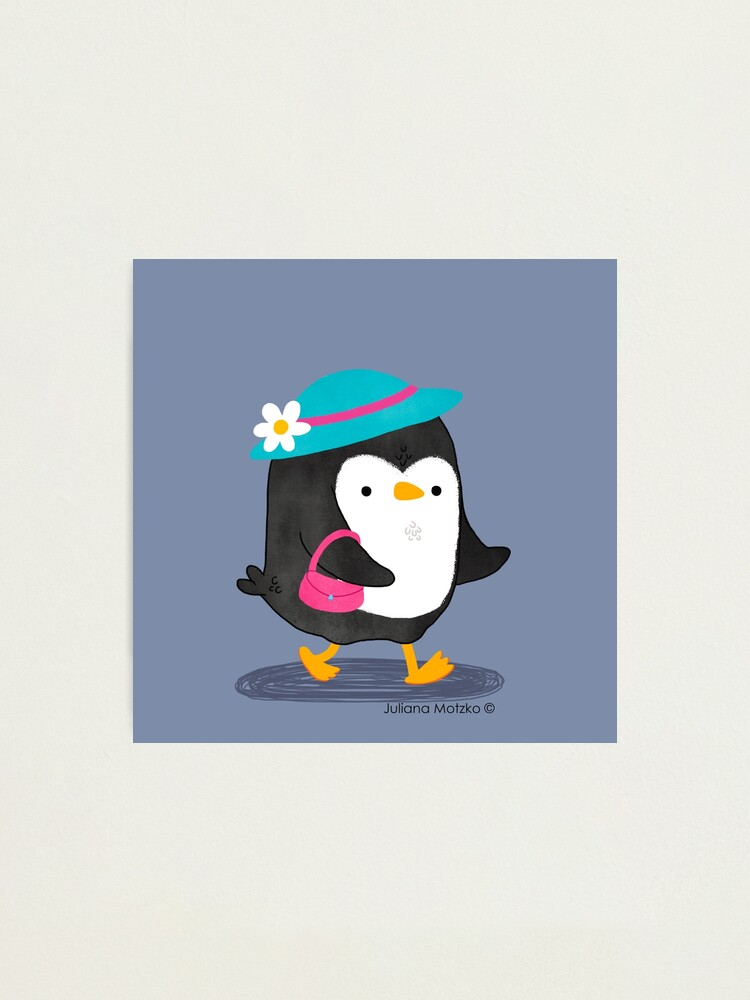 Alternate view of Daisy Penguin with purse and hat Photographic Print