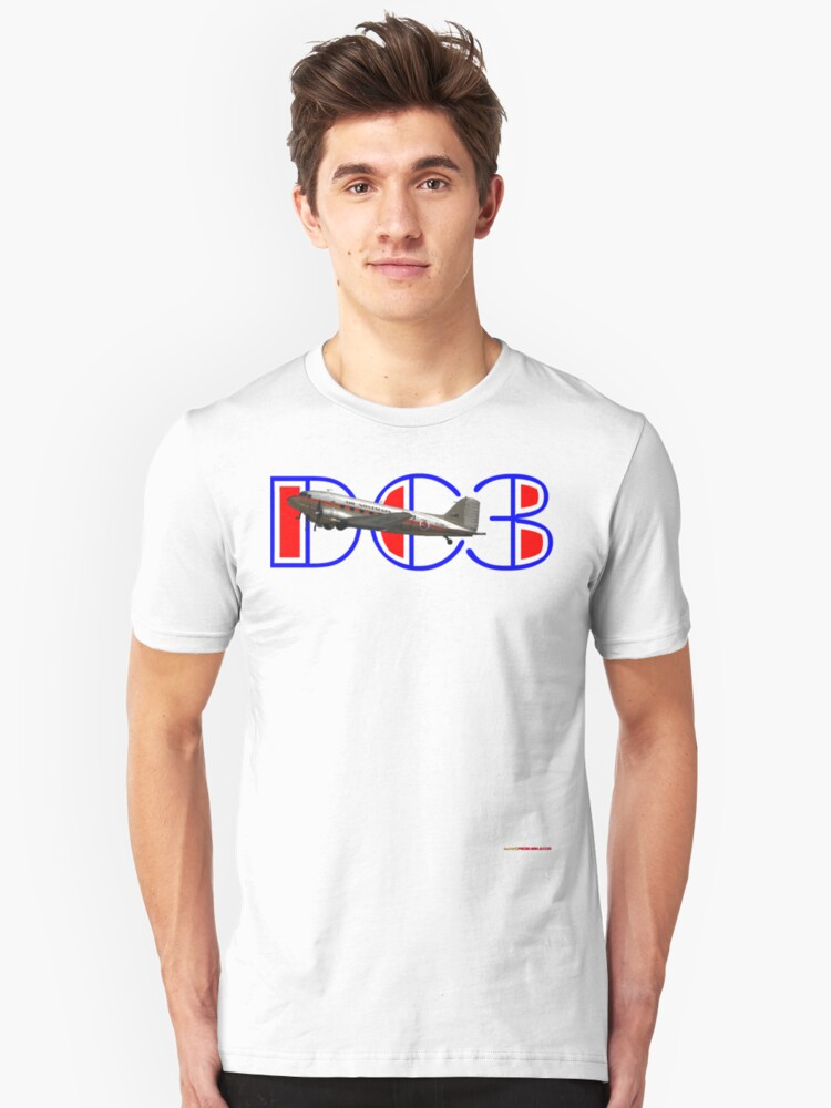 DC3 (75 Years In The Air) T-shirt Design Unisex T-Shirt Front