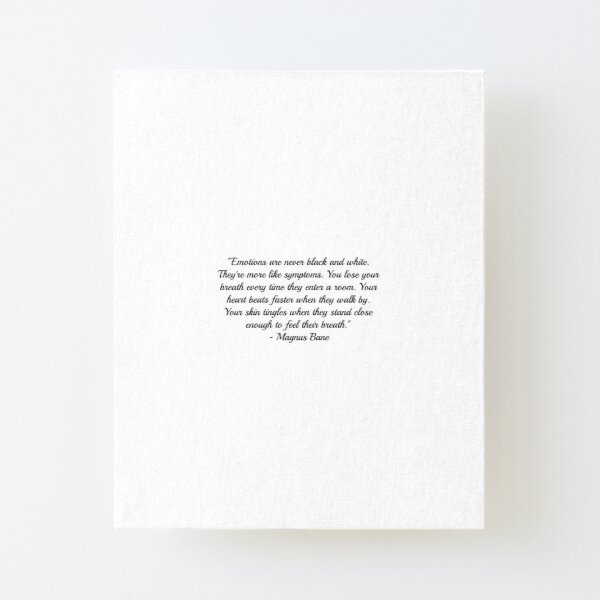 Magnus Bane Quote Canvas Mounted Print