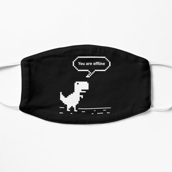 You are Offline Chrome Dinosaur 8 bit Dinosaur Chrome Developer Masks Stickers T Shirts Christmas Gift Thanksgiving Gift Halloween Tech Geek Programming Nerd Funny Black Mask