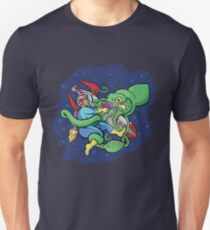 Sincerity vs. the Space Squid (textless version) Slim Fit T-Shirt