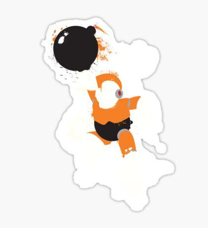 Bomb Man Explosive Splatter Design Sticker