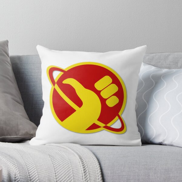 The Galactic Hitchhhiker Throw Pillow