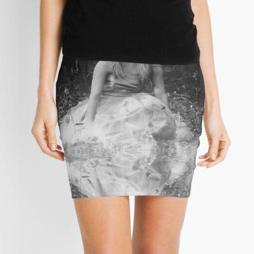 B&W Girl & Reflection Mini Skirt