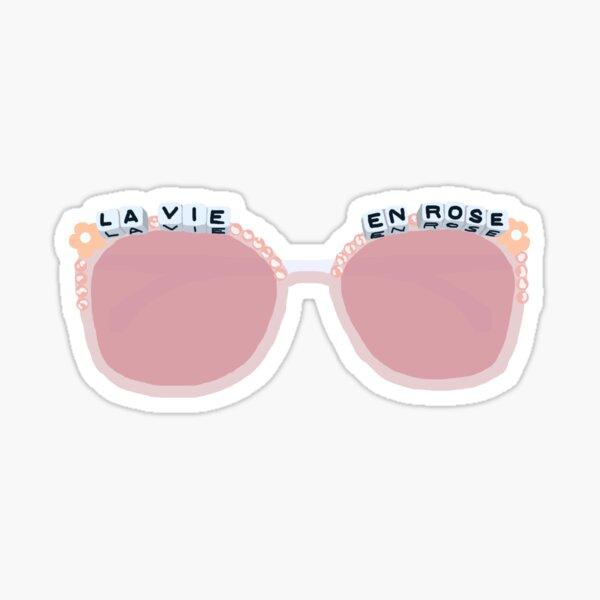 Pink Beaded Sunglasses Sticker