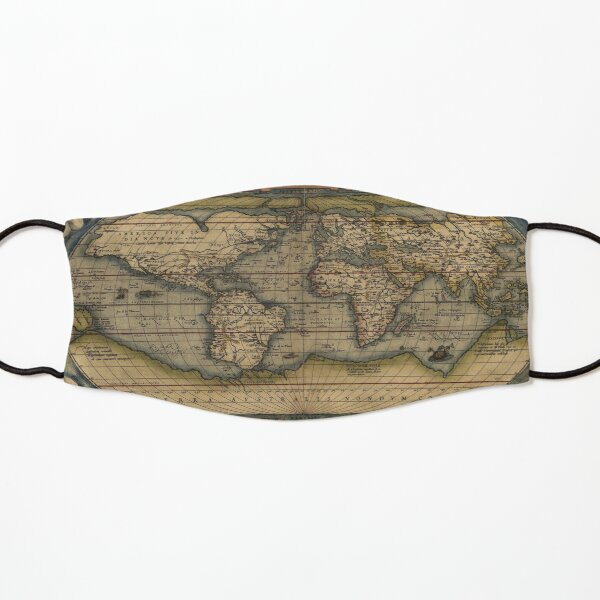 Ortelius World Map (1564) Kids Mask