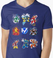 Robot Masters of Mega Man 2 Men's V-Neck T-Shirt