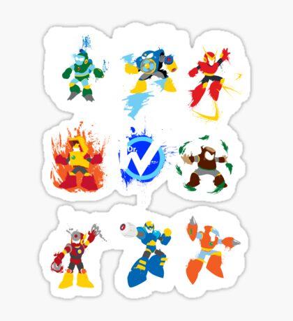 Robot Masters of Mega Man 2 Sticker