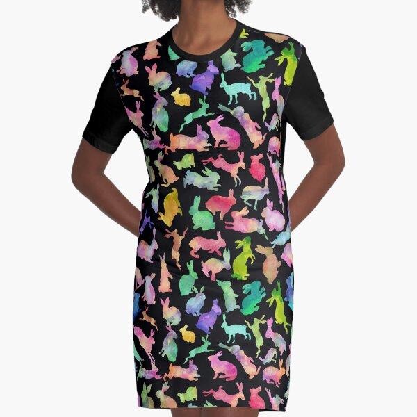 Soul Bunny - Spring Time - Dark Graphic T-Shirt Dress