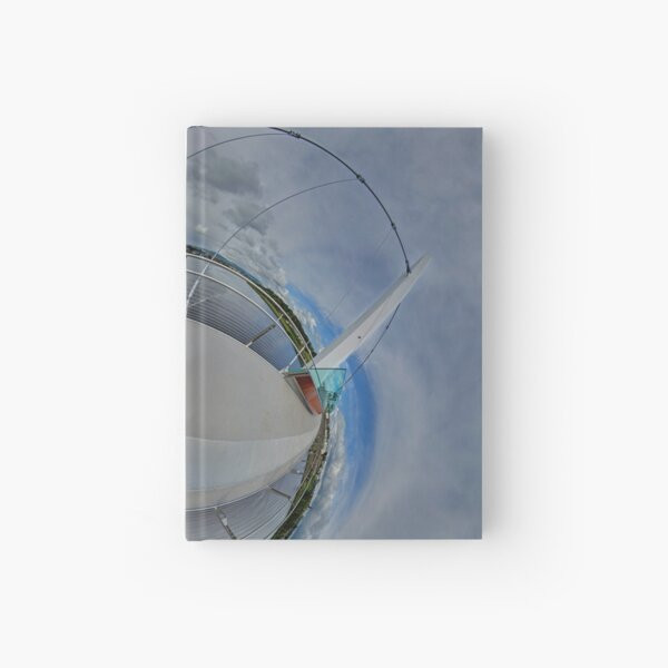 Peace Bridge Panorama - River Foyle, Derry Hardcover Journal