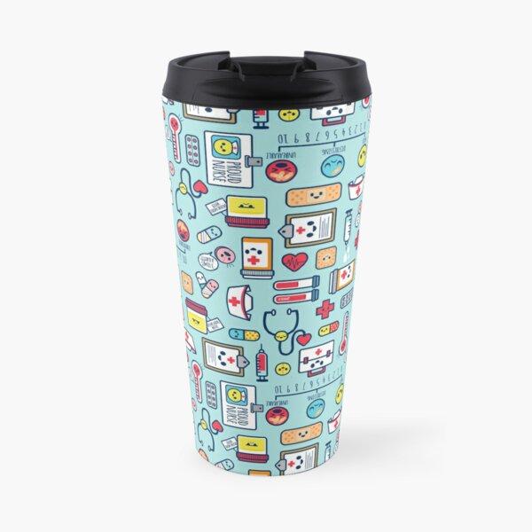 Proud To Be a Nurse / Surface Pattern Design / Blue Travel Mug