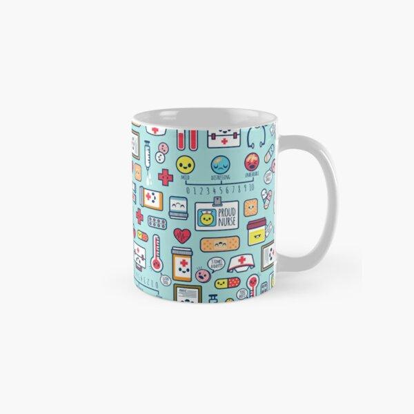 Proud To Be a Nurse / Surface Pattern Design / Blue Classic Mug