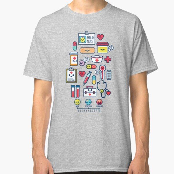 Proud To Be a Nurse / Surface Pattern Design / Blue Classic T-Shirt