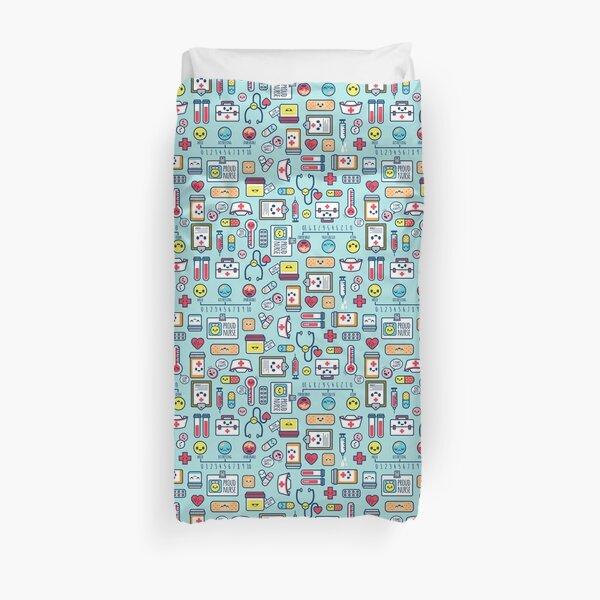 Proud To Be a Nurse / Surface Pattern Design / Blue Duvet Cover