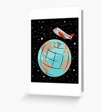 Space trip Greeting Card
