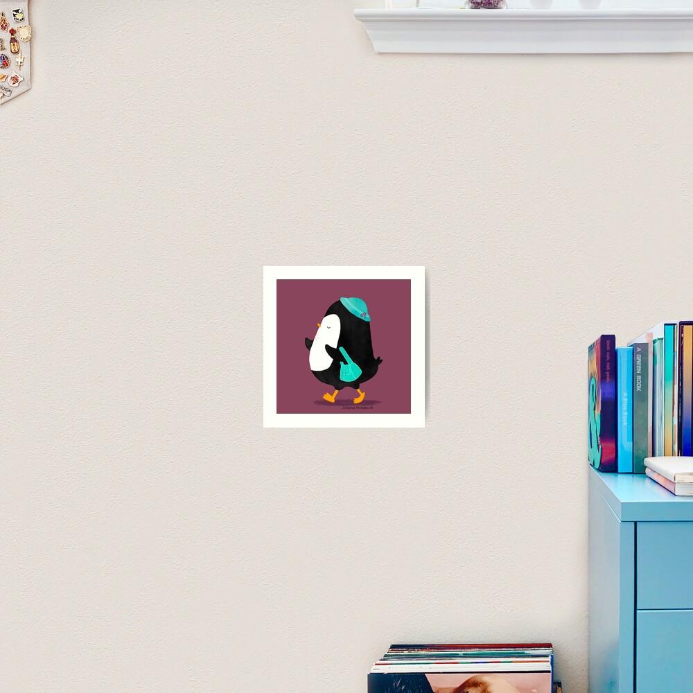 Daisy Penguin goes shopping! Art Print