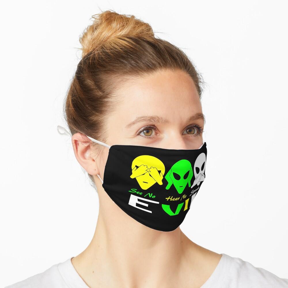 See Hear Speak No Evil Alien Design  Mask