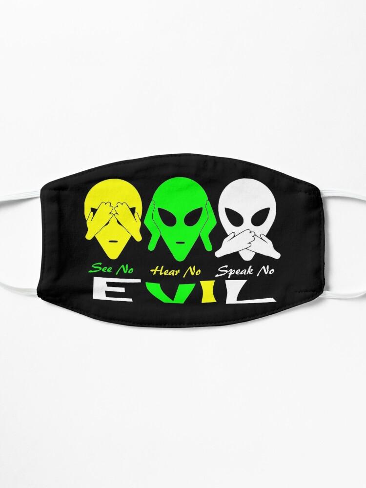 Alternate view of See Hear Speak No Evil Alien Design  Mask