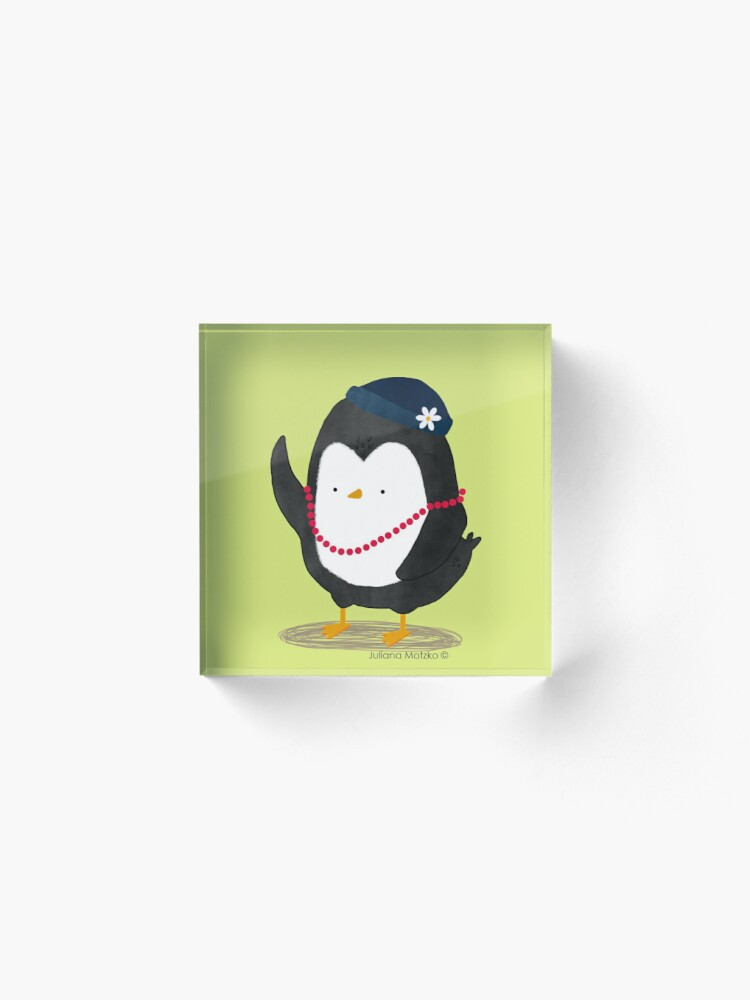Alternate view of Lady Daisy Penguin Acrylic Block