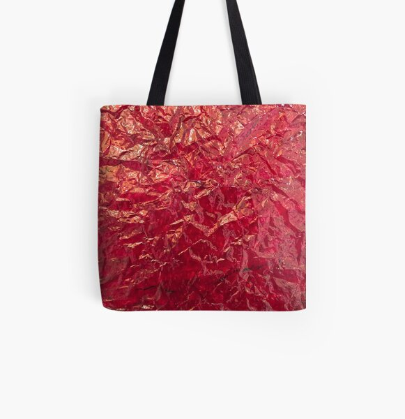 Wrinkled red  All Over Print Tote Bag