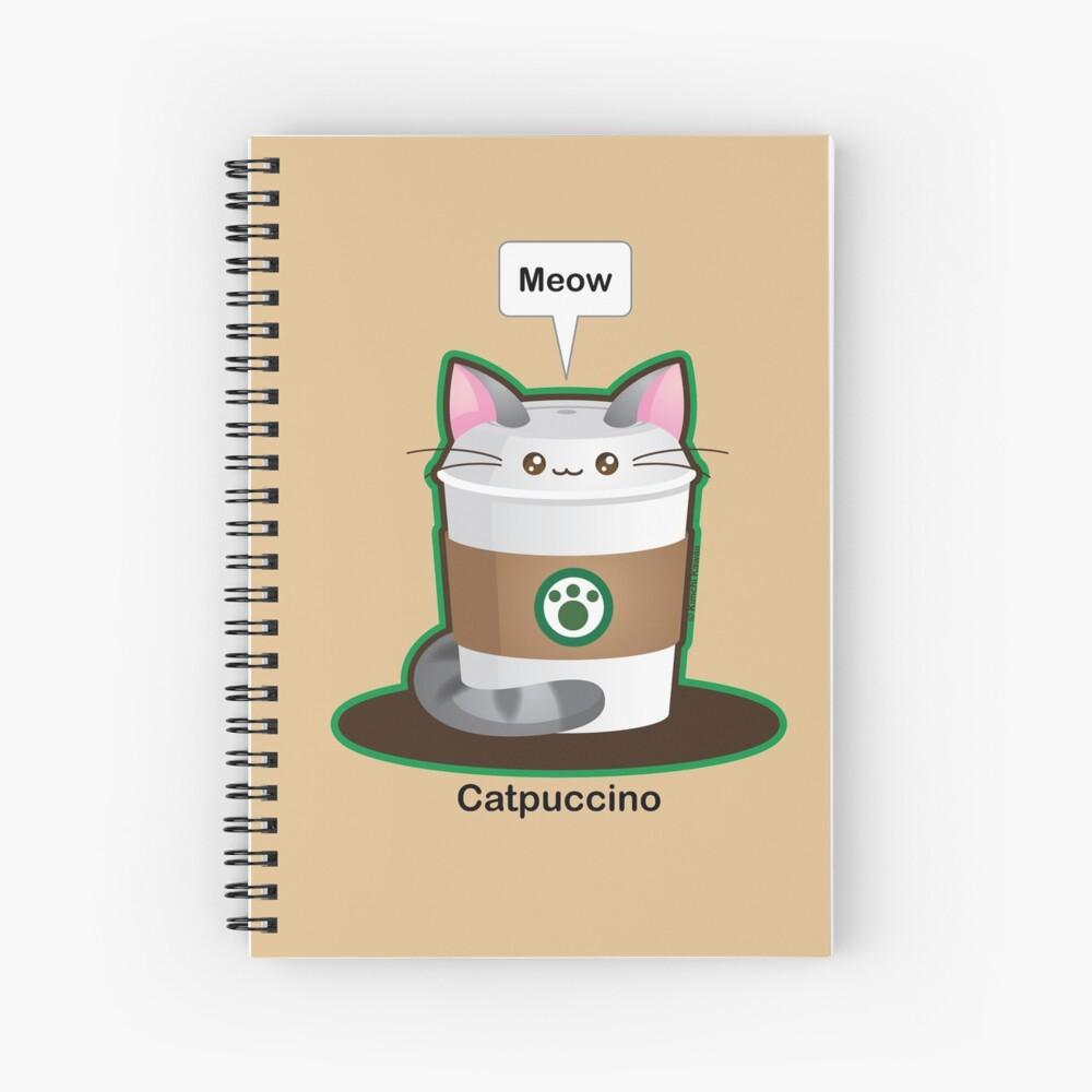 Cute Cat Coffee Spiral Notebook