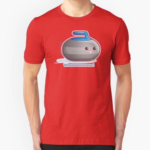 Cute  Curling Stone Slim Fit T-Shirt