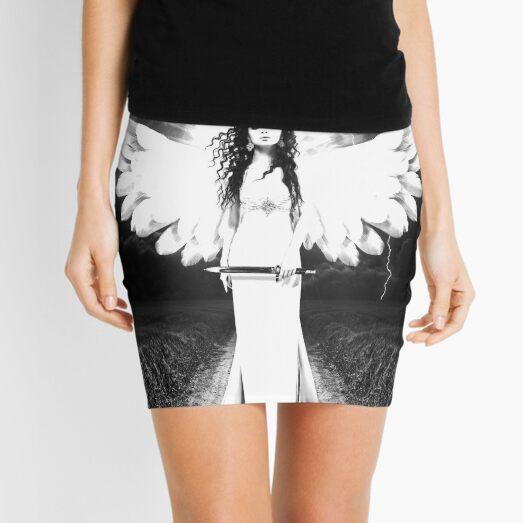 Black & White Angel Mini Skirt