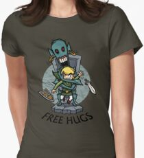 Zelda Wind Waker FREE HUGS  Womens Fitted T-Shirt
