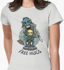 Camiseta entallada para mujer Zelda Wind Waker FREE HUGS