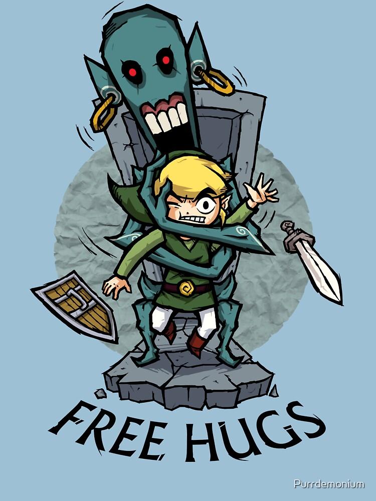 Zelda Wind Waker FREE HUGS  | Unisex T-Shirt