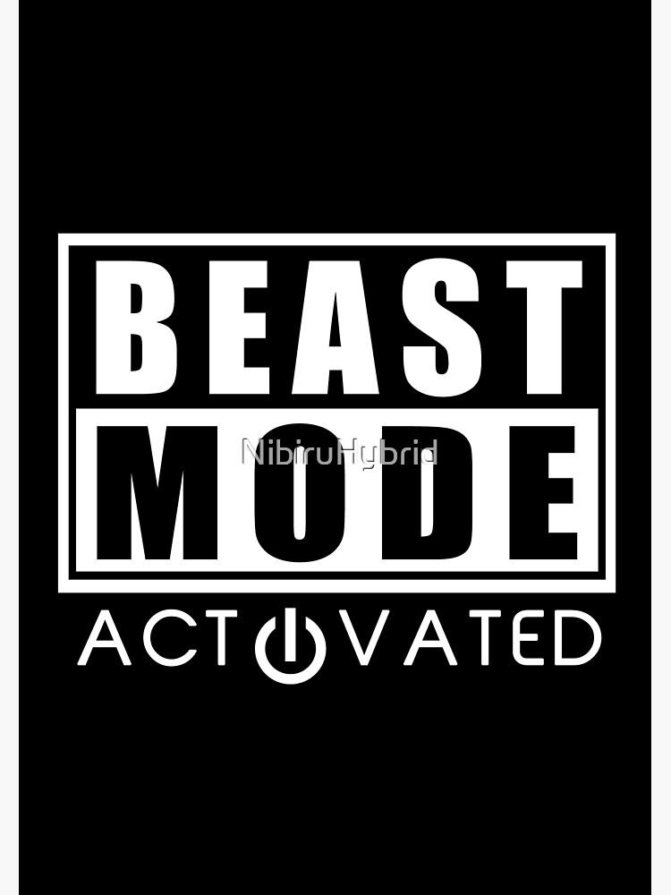 Beast Mode Gym Bodybuilding Sport Motivation Canvas Print