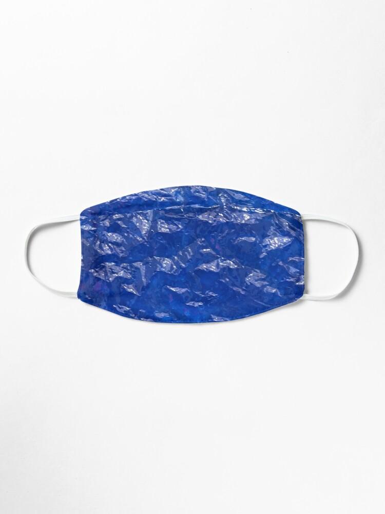 Alternate view of Blue, Wrinkled blue, Glass, House decor  Mask