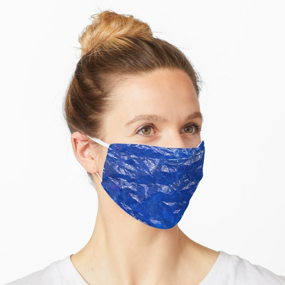 Blue, Wrinkled blue, Glass, House decor  Mask