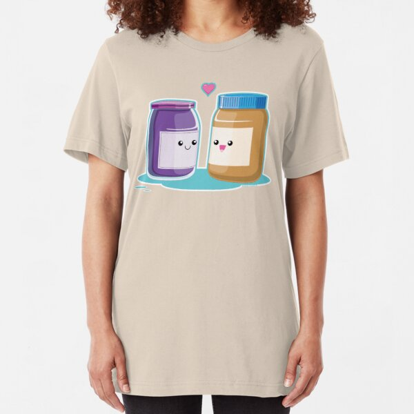 Kawaii Peanut Butter and Jelly Slim Fit T-Shirt