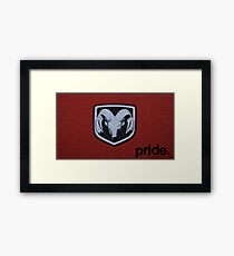 Dodge Pride Framed Print