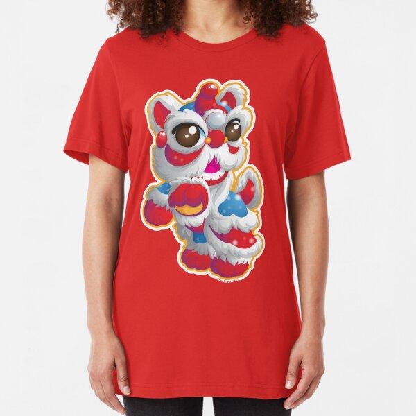 Cute Lion Dancer Slim Fit T-Shirt