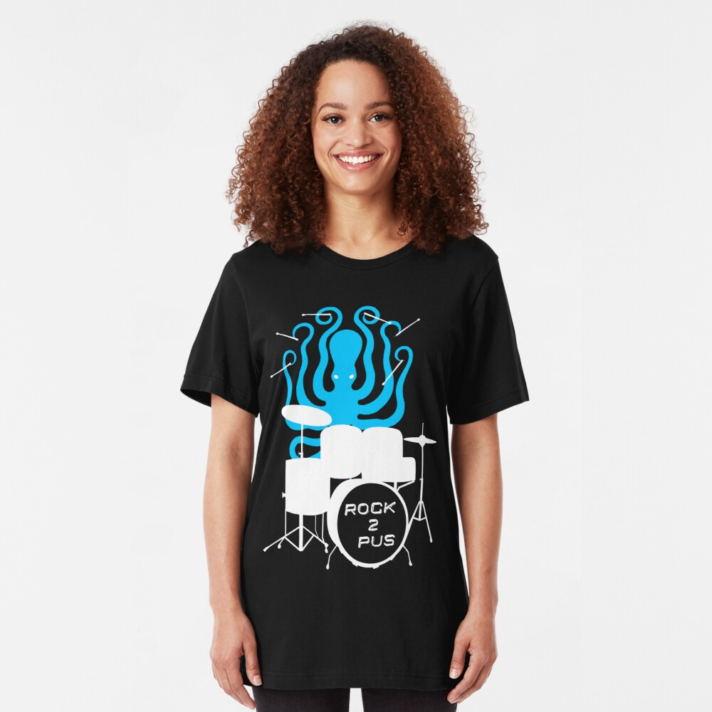 Octopus Rock! Slim Fit T-Shirt
