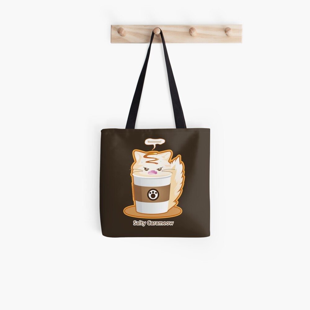 Purrista Pawfee: Salty Caramel Kitty Coffee Tote Bag